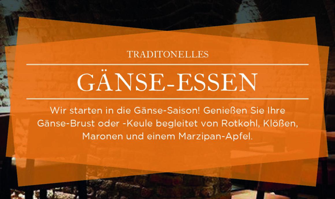 Traditionelles Gänse-Essen